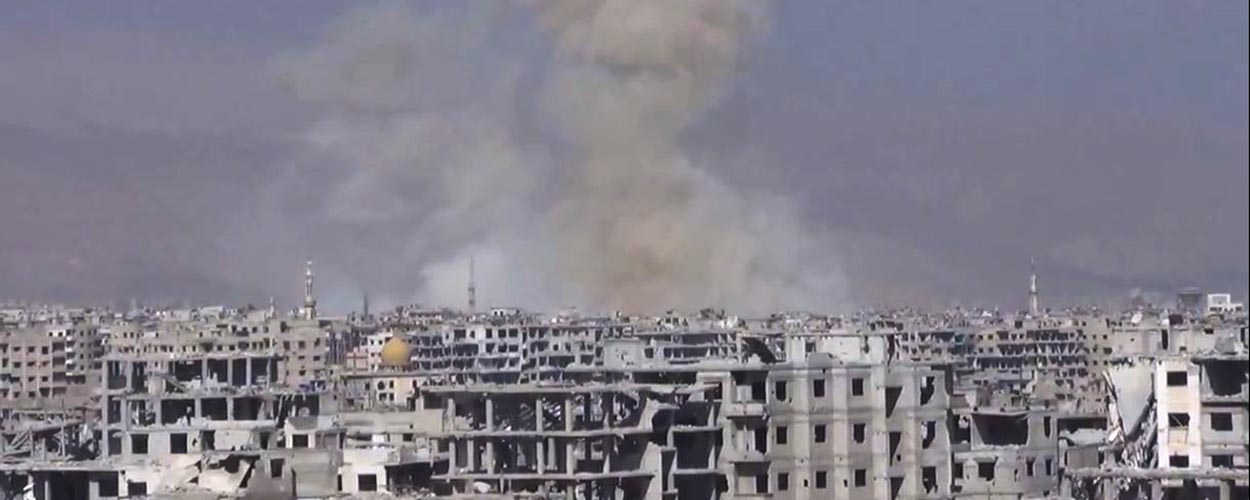 Ghouta under fire, February 2018