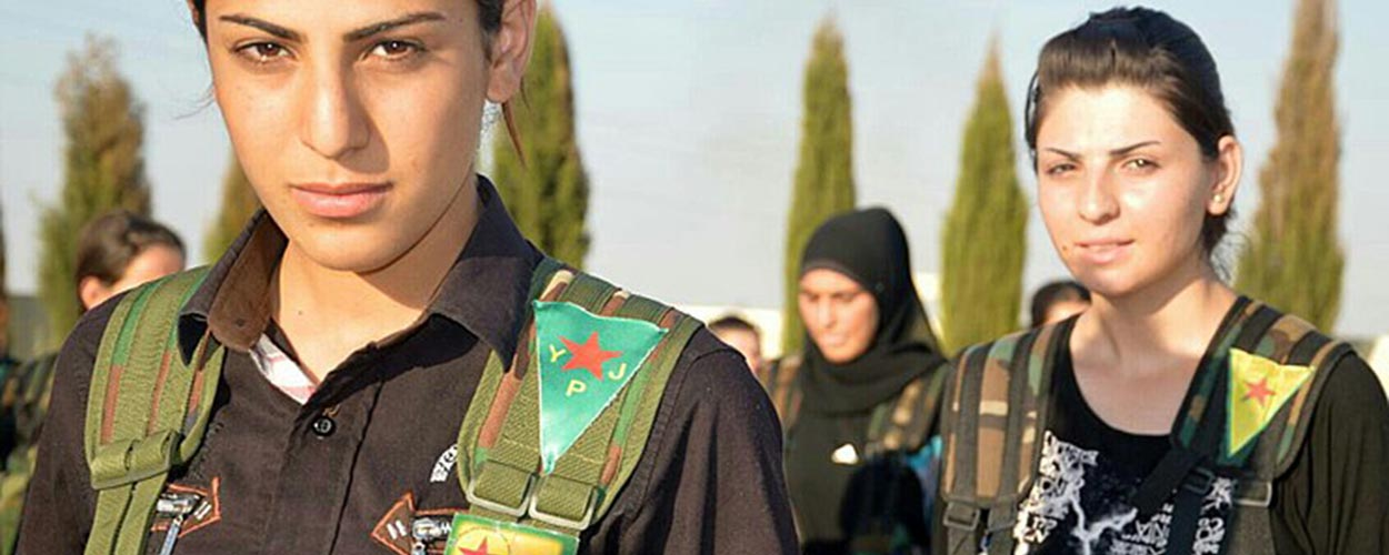 Fighters with the YPJ