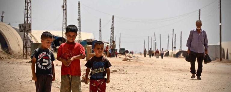 Children in Tal Serdam camp, Fafin, northern rural Aleppo.