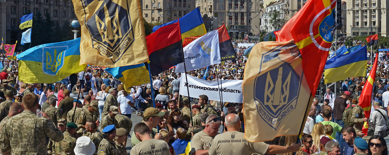 March of Ukraine's Defenders on Independence Day in Kyiv, 2019